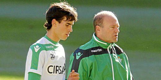 Vilarchao junto a Mel durante un entrenamiento.