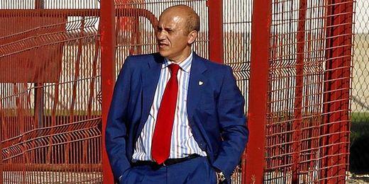 El presidente Del Nido fue el único que presenció el entrenamiento del primer equipo en la Ciudad Deportiva.