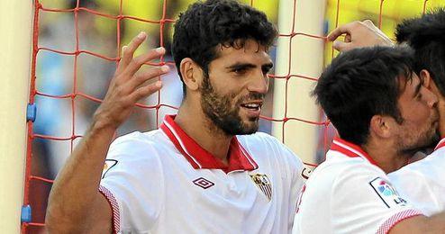 Fazio ha tenido un día plácido en el partido frente al Espanyol.