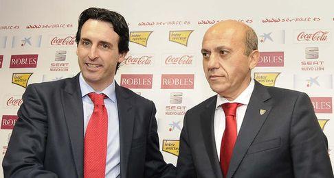 Emery a su llegada al Sevilla.