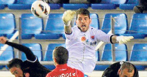 Herrerín ha jugado 33 partidos con el Numancia esta temporada y ha encajado 44 goles.