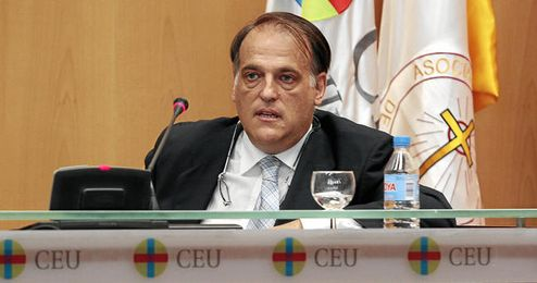 Javier Tebas durante un acto público.