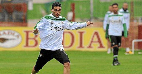 Jorge Molina durante un entrenamiento.