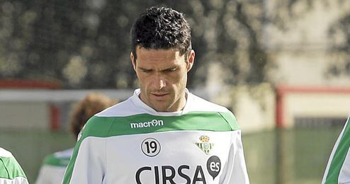 Jorge Molina sigue su recuperación para estar ante el Mallorca.