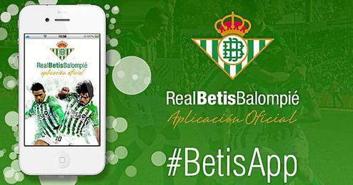 El Betis ha presentado hoy su nueva aplicación.