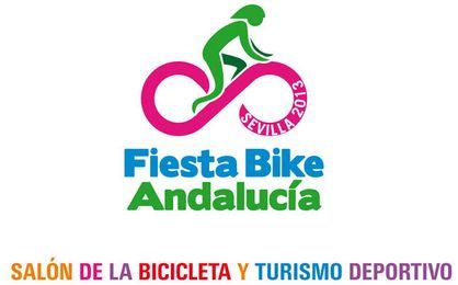 Cartel promocional de la ´I Fiesta Bike Andalucía, Salón de la Bicicleta y el Turismo Deportivo´.