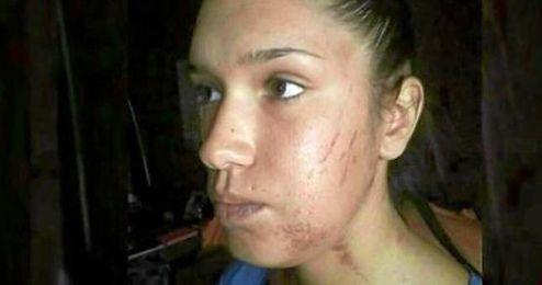 Imagen de la ex novia de Rubén Castro durante un programa de televisión.