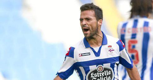 Bruno Gama, uno de los más destacados del descendido Deportivo.