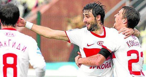Nico Pareja ha anotado dos goles en la última liga rusa.
