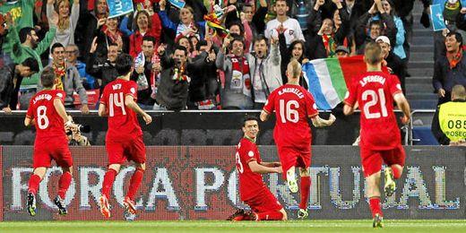 El delantero portugués está rindiendo a un alto nivel con su combinado nacional.