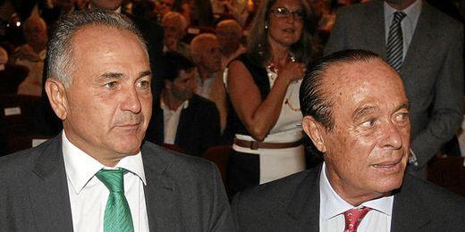Curro Romero junto a Rafael Gordillo.