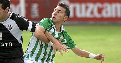 Francisco Miguel Varela durante un partido con el filial de esta temporada.