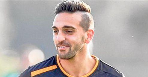 Miguel Lopes en un entrenamiento con el Sporting.