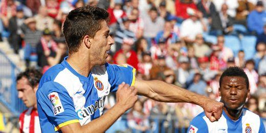 Dídac Vilà celebra un tanto conseguido durante su etapa en el Espanyol.