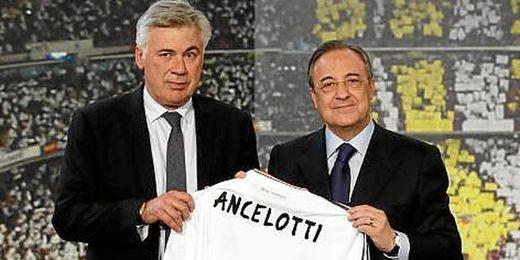 Carlo Ancelotti ha sido presentado esta mañana en el Santiago Bernabéu