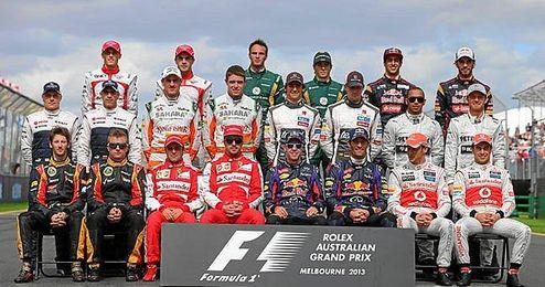 Los pilotos de F1, unidos