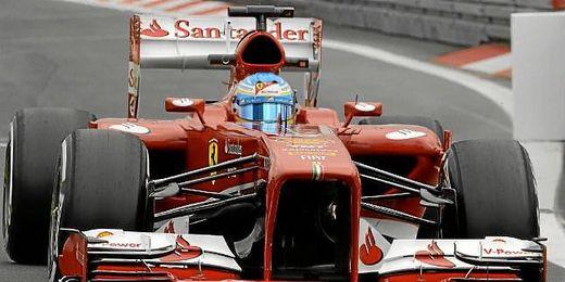 Fernando Alonso durante los entrenamientos del GP de Alemania de F1.