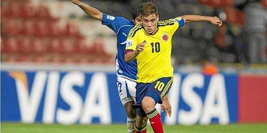 Quintero durante un partido del pasado Mundial Sub 20.