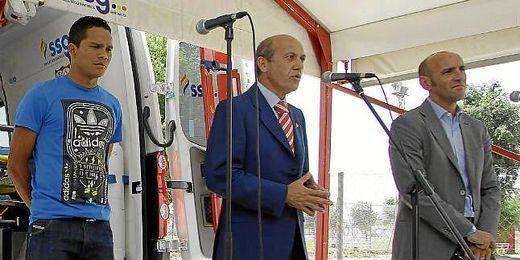 Del Nido, durante la presentación de los tres nuevos fichajes del Sevilla.
