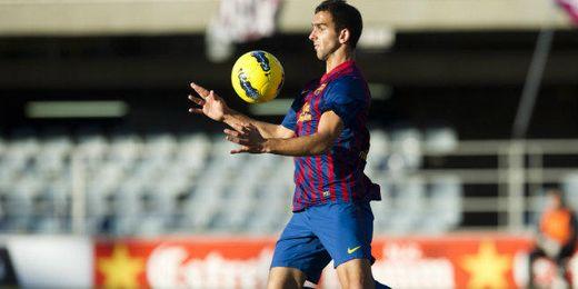 Montoya en un partido con el Barcelona B.