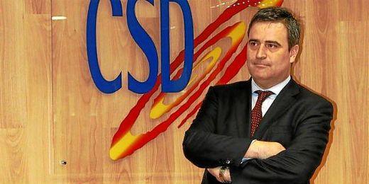 Miguel Cardenal en el Consejo Superior de Deportes.
