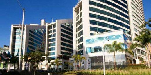 El San Fernando Plaza, hotel donde el club pasa la noche antes de volar a Guayaquil.