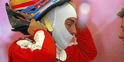 Fernando Alonso tras su sesión