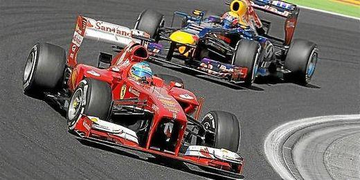 Fernando Alonso durante la disputa del Gran premio de Hungría.