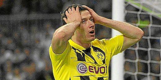 Lewandowski en la final de Champions.