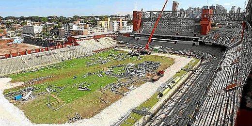 El estadio del Atlético Paranense, en remodelación