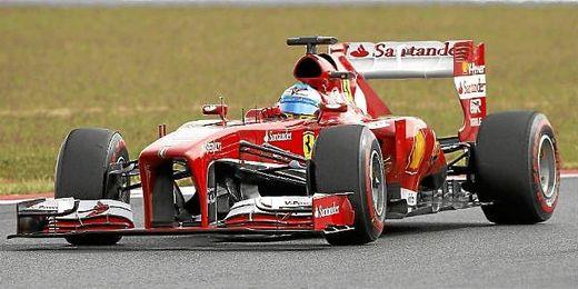 Fernando Alonso en el circuito Yeongam de Corea.