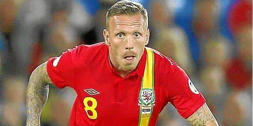 Bellamy con la selección de Gales.