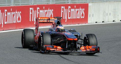 Jenson Button en su monoplaza.