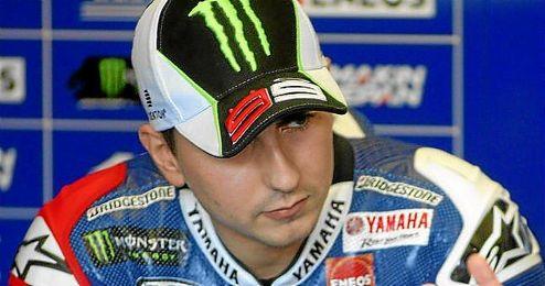Lorenzo durante un entrenamiento de MotoGP en el circuito de Jerez.