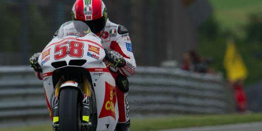 Simoncelli en un Gran Premio.