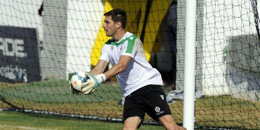 Guillermo Sara durante un entrenamiento.