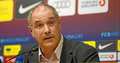 Andoni Zubizarreta, director deportivo del FC Barcelona, durante una rueda de prensa.