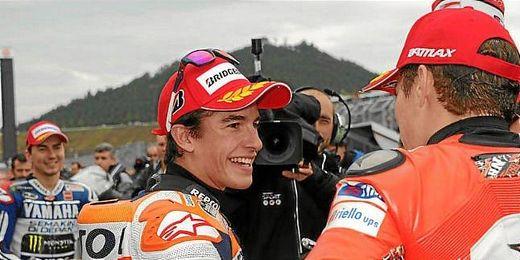 El piloto español Marc Márquez, tras finalizar los entrenamientos en el circuito de Motegi.
