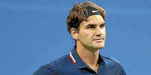 Roger Federer, durante un partido de la pasada temporada.