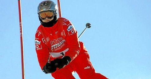 Michael Schumacher, durante una de las concentraciones de Ferrari en Madonna di Campligio, donde solía practicar esquí.