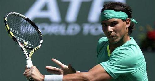 El tenista Rafa Nadal en Indian Wells.