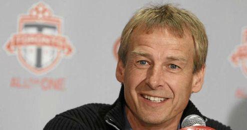 Jurgen Klinsmann en una rueda de prensa.