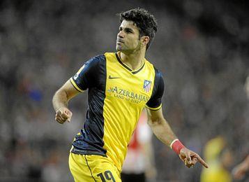 Simeone ve difícil que Costa pueda estar en el once.