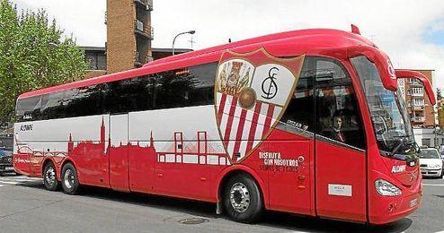 Imagen del archivo del bus del Sevilla F.C.