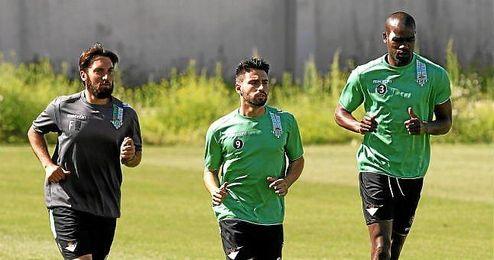Paulao, junto a Chuli en un entrenamiento.
