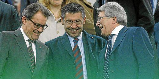 El presidente colchonero es optimista para la Liga.