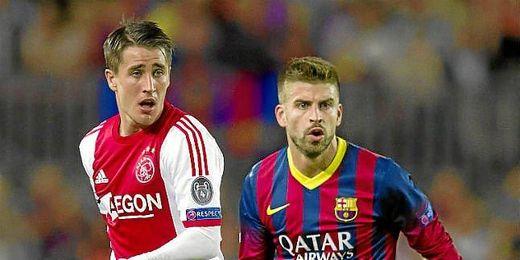 Bojan Krkic, ante el Barcelona en Liga de Campeones.