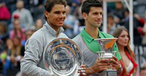 El serbio Novak Djokovic batió a Nadal en el último partido disputado en Roma.