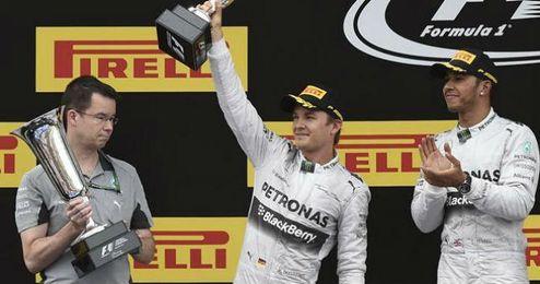 Hamilton y Rosberg volvieron a conseguir el doblete en el GP de España.