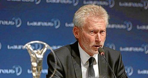 Paul Breitner, en la última gala de los premios Laureus.